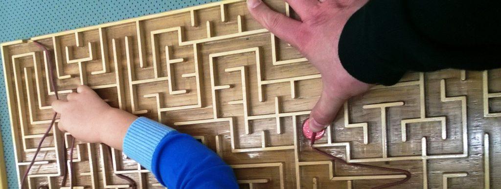 Form und Inhalt lösen Probleme in jedem Labyrinth